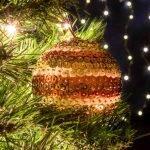 Χριστουγεννιάτικη μπάλα ριγέ