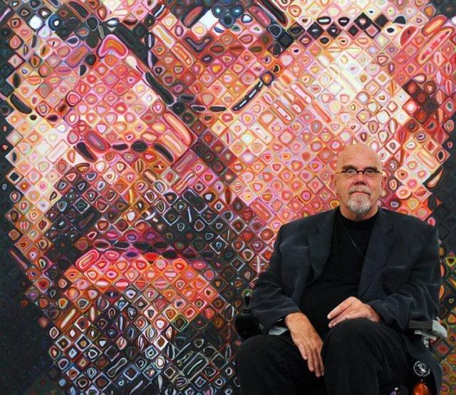 Chuck Close: Δυσλεκτικός καλλιτέχνης που σχεδιάζει προσωπογραφίες